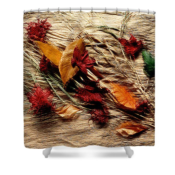 Fall Foliage Still Life Shower Curtain