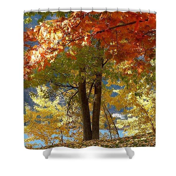 Fall In Kaloya Park 4 Shower Curtain