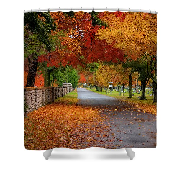 Fall In The Cemetery Shower Curtain
