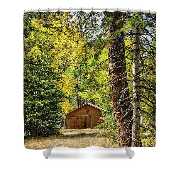 Fall In The Forest Shower Curtain