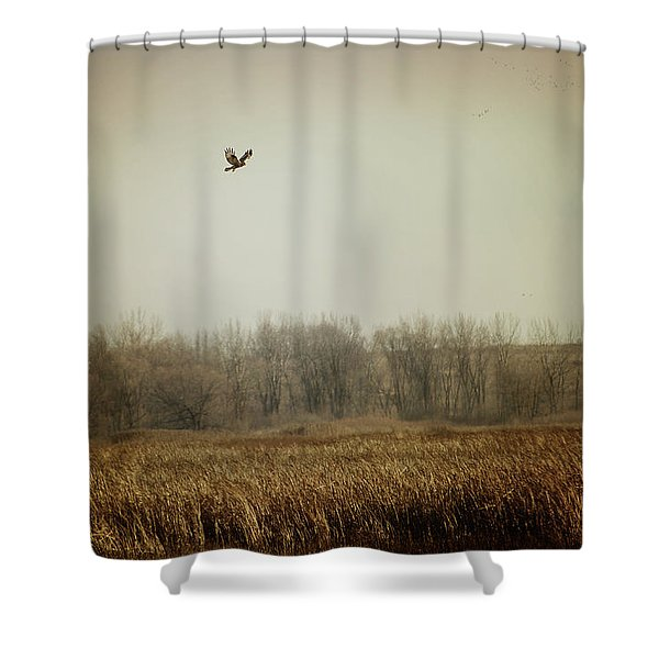 Fall In The Marsh Shower Curtain