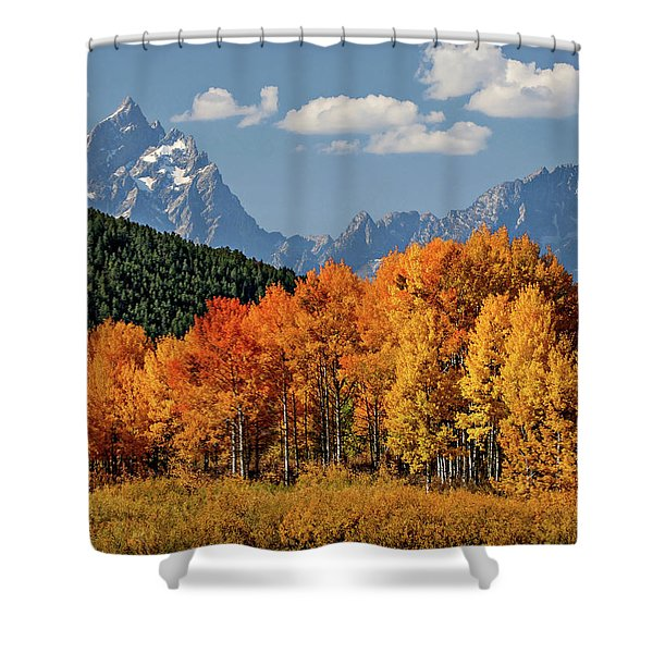 Fall In The Tetons Shower Curtain