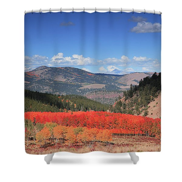 Fall In  Ute Trail  Shower Curtain