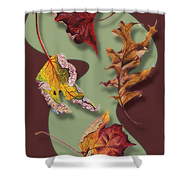 Fall Leaves Card Shower Curtain