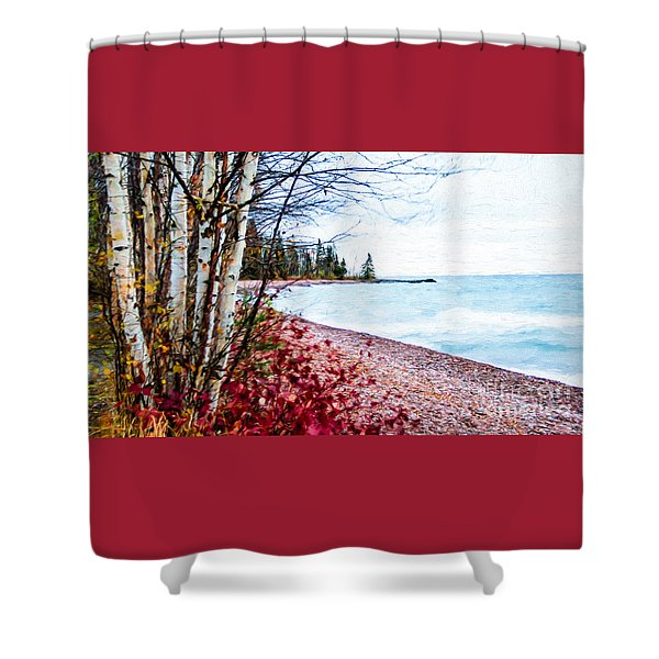 Fall On Lake Superior Shower Curtain