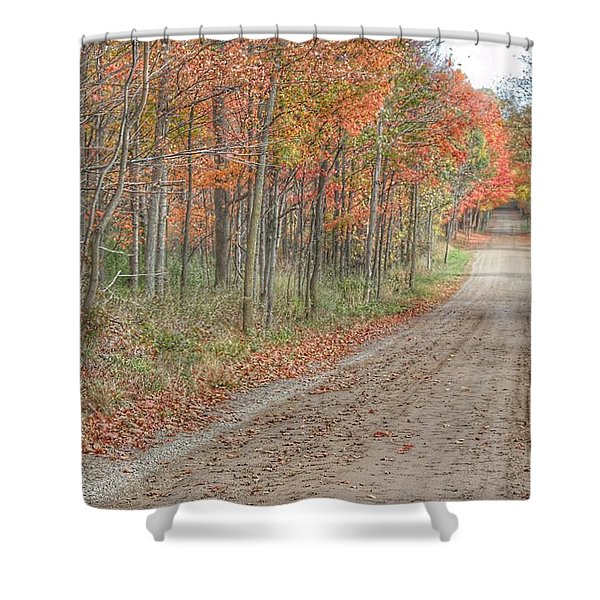 9018 - Fall On Murphy Lake Iv Shower Curtain