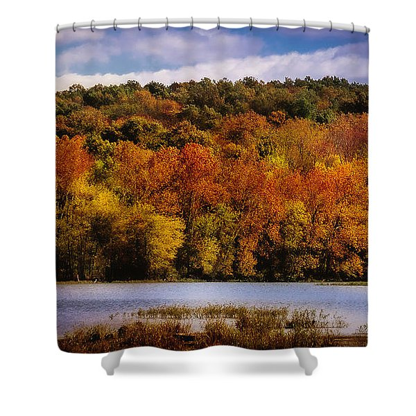 Fall On Springfield Lake Shower Curtain
