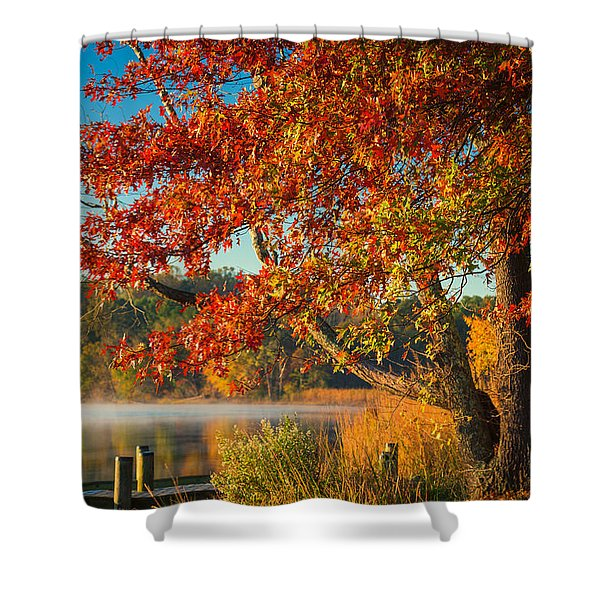 Fall On The Patuxent Shower Curtain