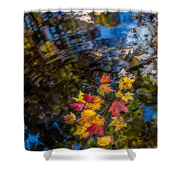 Fall Reflection - Pisgah National Forest Shower Curtain