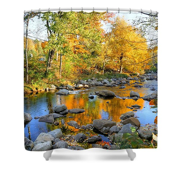 Fall Reflections In Jackson Shower Curtain