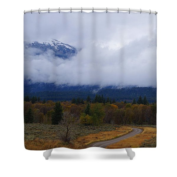 Fall Season's Last Stand Shower Curtain