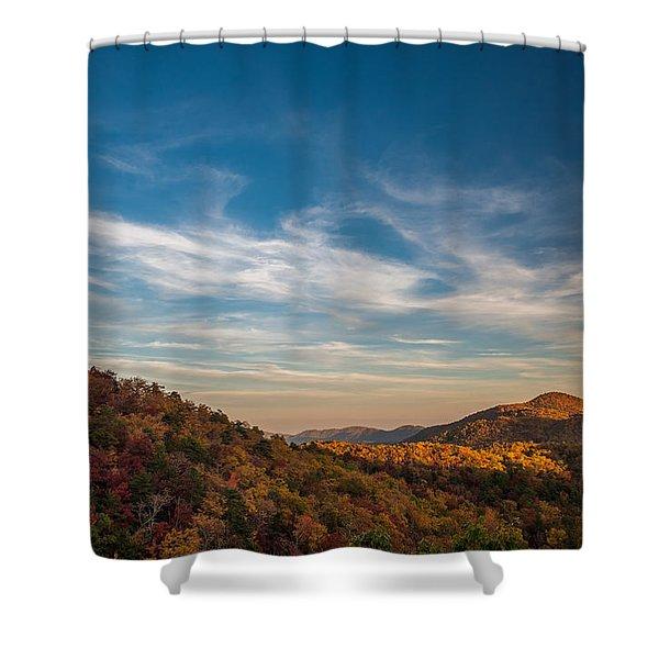 Fall Skies Shower Curtain