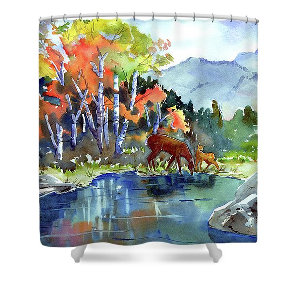 Fall, Upon Us Shower Curtain
