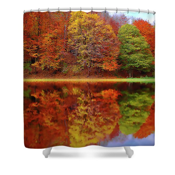 Fall Waters Shower Curtain