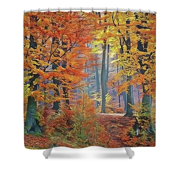 Fall Woods Shower Curtain