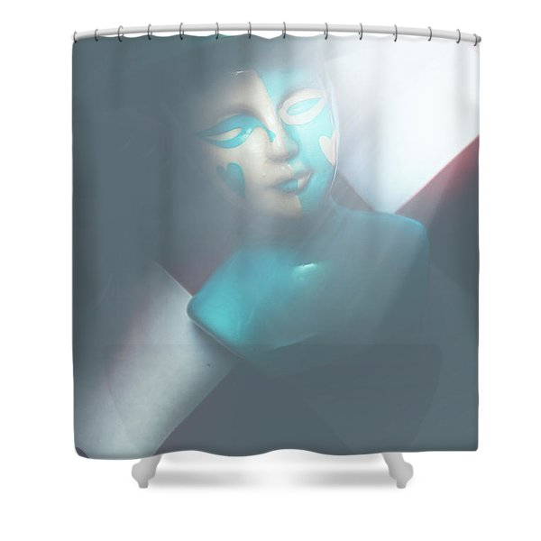 Fallen Blue King Of The Grand Chessboard Shower Curtain