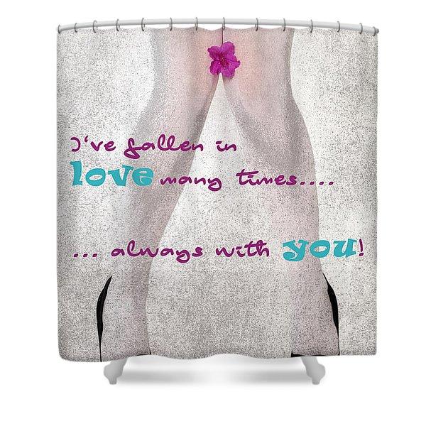 Fallen In Love Shower Curtain