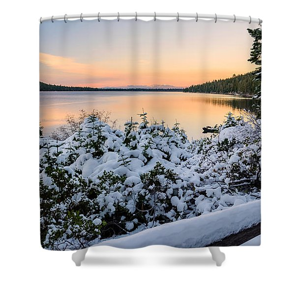 Fallen Leaf Lake Shower Curtain