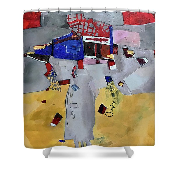 Falling City Shower Curtain
