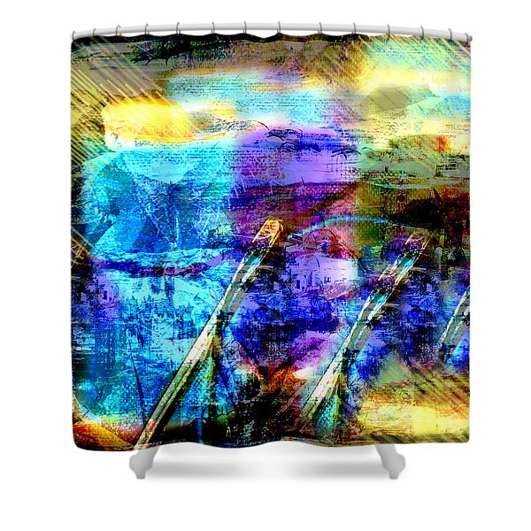 Falling Drop Shower Curtain