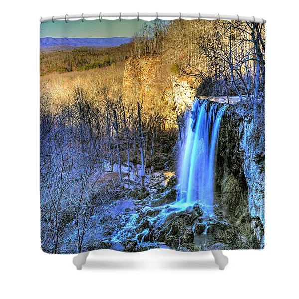 Falling Spring Falls Shower Curtain