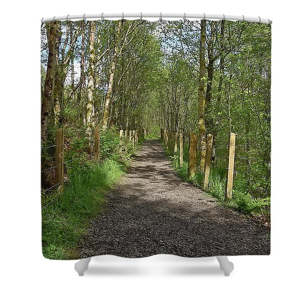 Falloch Path Shower Curtain