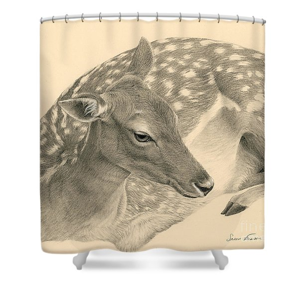 Fallow Doe Resting Shower Curtain