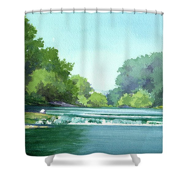 Falls At Estabrook Park Shower Curtain