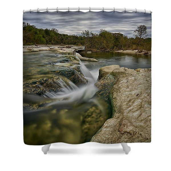 Texas Hill Country Falls Shower Curtain