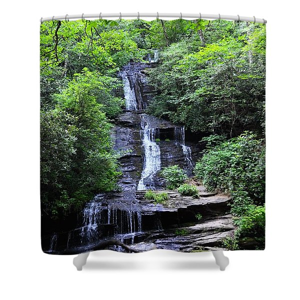 Falls Near Bryson City Shower Curtain