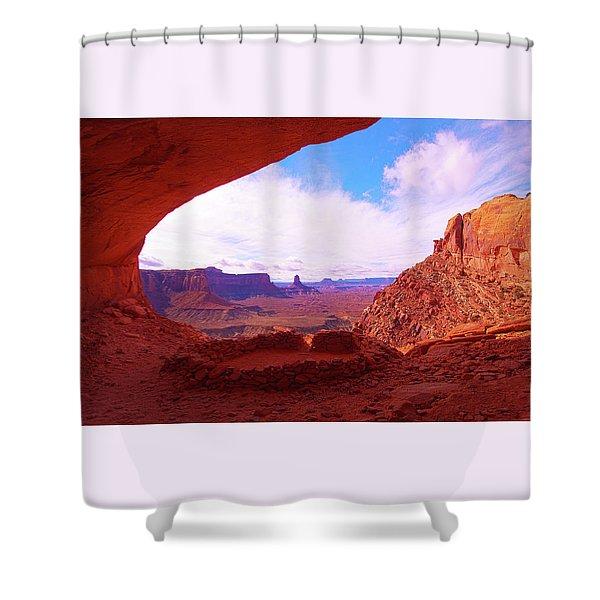 False Kiva Shower Curtain
