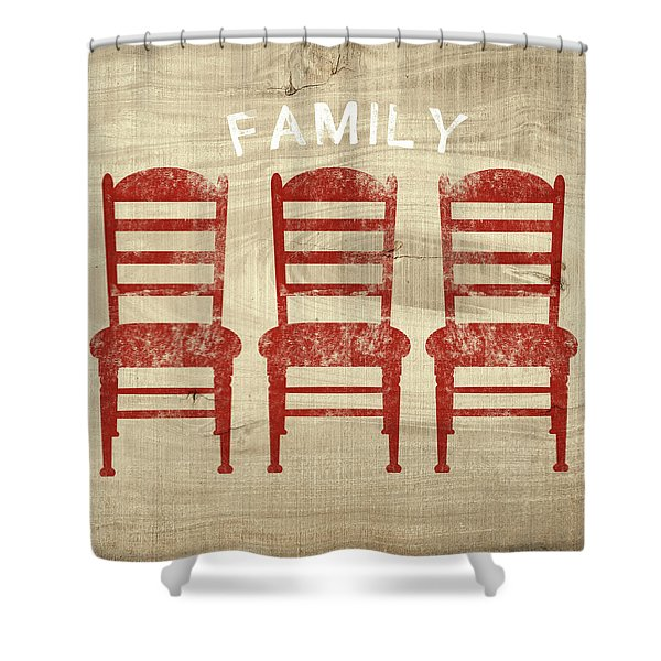 Family- Art By Linda Woods Shower Curtain