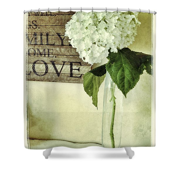 Family, Home, Love Shower Curtain