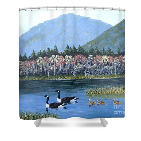 Family Outing Shower Curtain