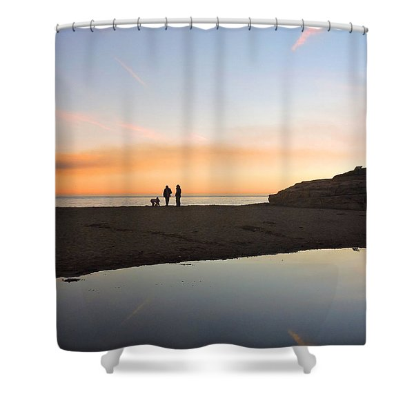 Family Sunset Shower Curtain