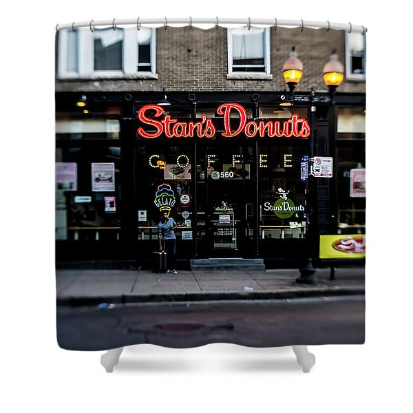 Famous Chicago Donut Shop Shower Curtain