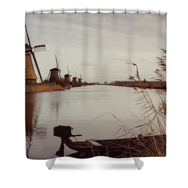 Famous Windmills At Kinderdijk, Netherlands Shower Curtain