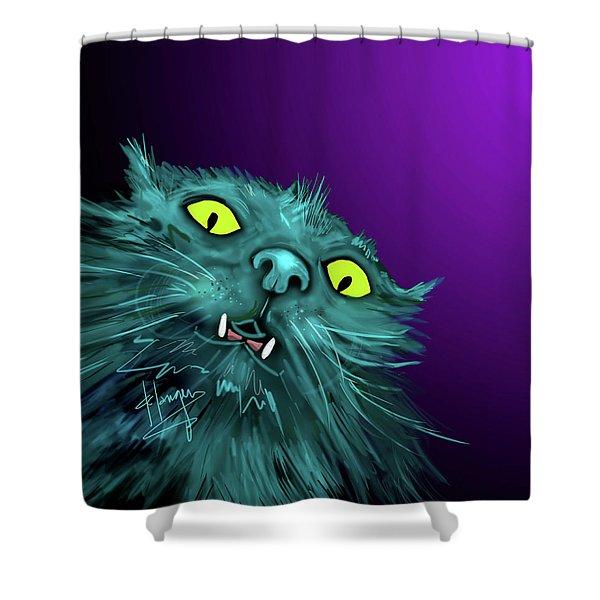 Fang Dizzycat Shower Curtain