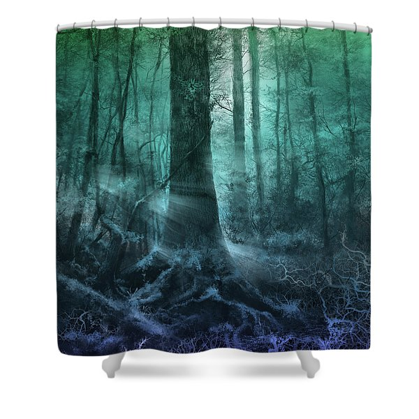 Fantasy Forest 3 Shower Curtain