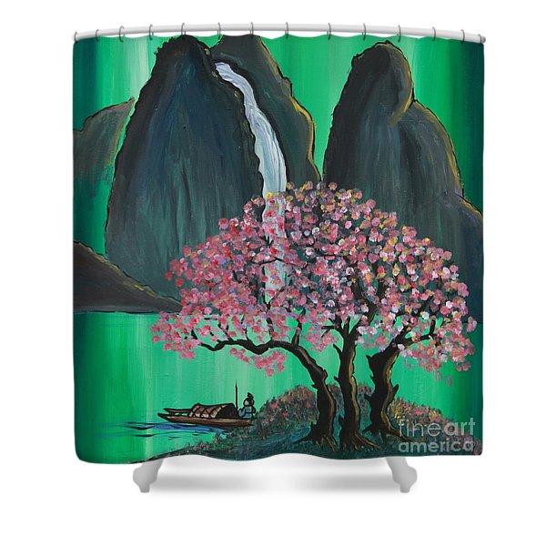 Fantasy Japan Shower Curtain