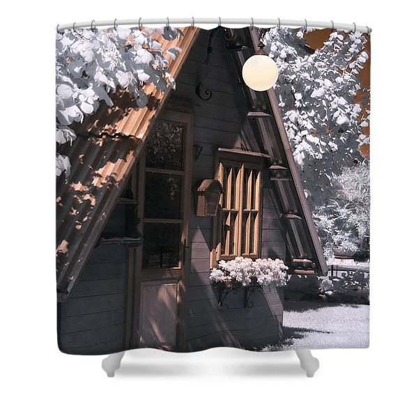 Fantasy Wooden House Shower Curtain