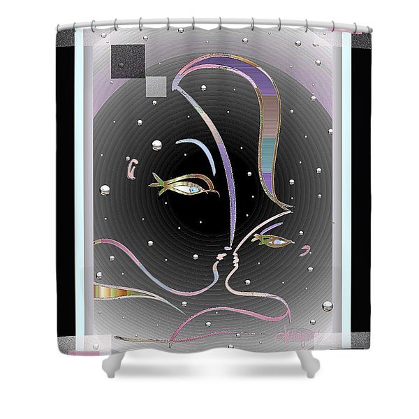Farewell Mardi Gras Kiss Shower Curtain