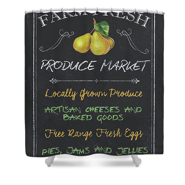Farm Fresh Produce Shower Curtain