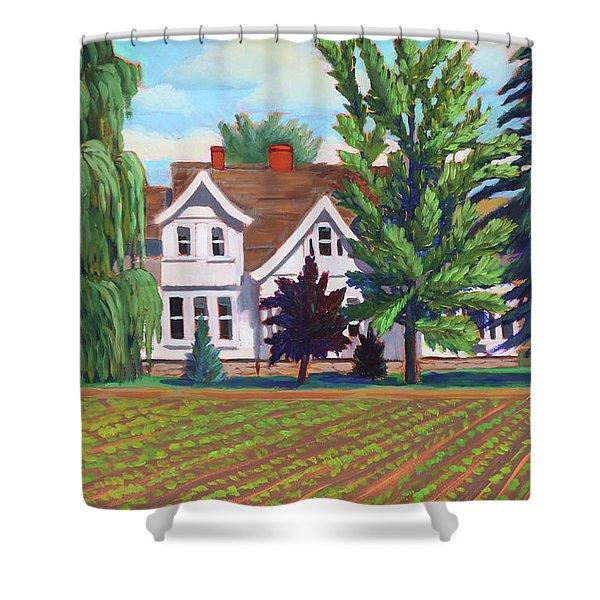Farm House - Chinden Blvd Shower Curtain