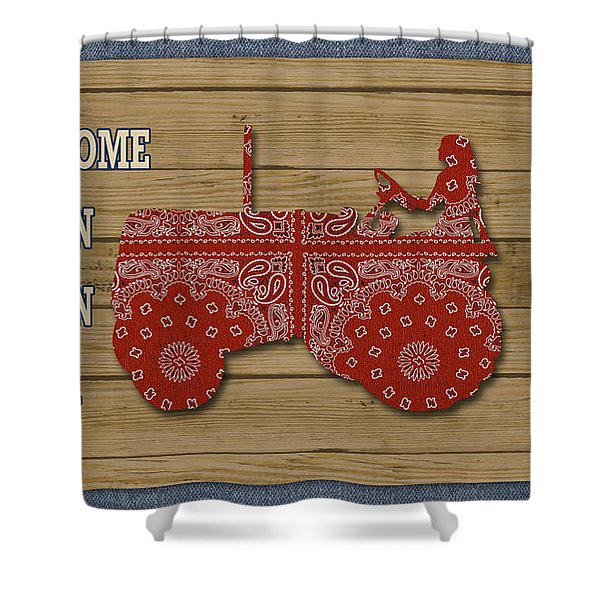 Farm Life-jp3230 Shower Curtain