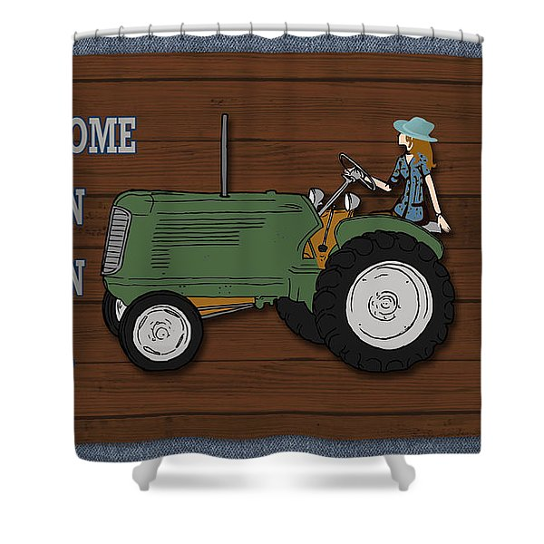 Farm Life-jp3231 Shower Curtain
