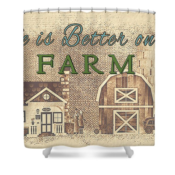 Farm Life-jp3232 Shower Curtain
