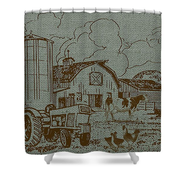 Farm Life-jp3236 Shower Curtain