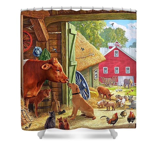 Farm Scene In America Shower Curtain