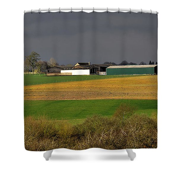 Shower Curtain featuring the photograph Farm View by Jeremy Hayden